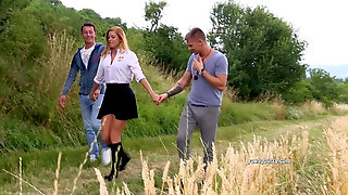 Hot Chrissy Fox Fucked By Two In Outdoor XXX