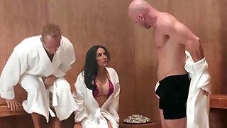 Tia Cyrus Fucks A Big Dick At The Spa Behind Husbands Back