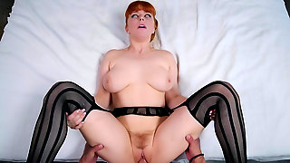 Busty Redhead Mom Pussy Fucked In Excellent POV