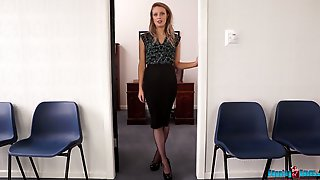 Sexy Secretary Jayne Shows Off Her Tits And Yummy Ass In The Office