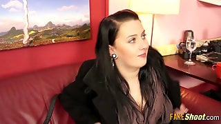 Chubby Euro Girl Casted For A Porno - Part2