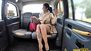 Fake Taxi Driver Serves A Busty Brunette With Tattoos