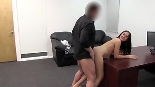 Young Pregnant Slut Bent Over And Fucked In Her First Porn