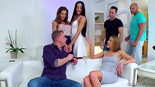 Sexually Compulsive Babe Alexis Crystal Takes Part In Crazy Orgy And Gets DPed