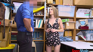 Phantom Pregnant Teen Thief Punish Fucked By A Mall Cop