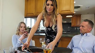 Dad Doesnt Know What His Slutty Daughter Is Doing With Her Bf