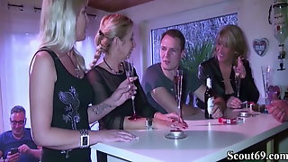 Three German MILFs Seduce Young Boy To Fuck In Group