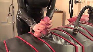 Rubber Bag Fuck Slave