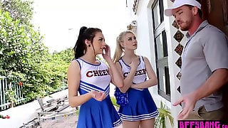 Petite Teen Cheerleader Squad Fuck Their Perv Coach