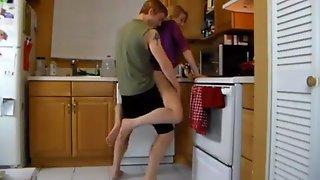 Kitchen Grope Mom