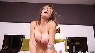 Busty Stepmother Takes Cock Into Pussy In A POV Scene