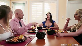 3 On 1 Foursome With Hot Pornstars Angela, Kagney And Phoenix.