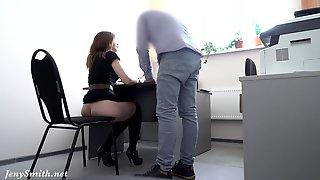 Hidden Cam At Job Interview. Boss Shocked