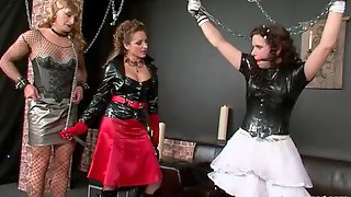 Sissies Chained Up In Kinky Femdom Video