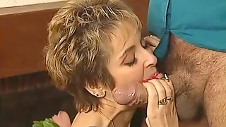 Horny Satyr Roberto Shakes His Oozing Dick Close To MILFs Face