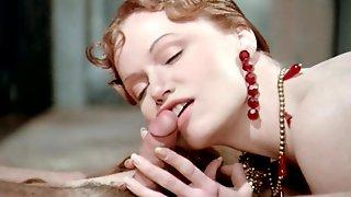 Glamorous Vintage Lady Sucks Pink Throbbing Wiener