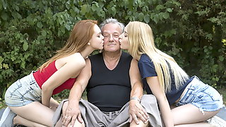 Grandpa 70 Years Old Fucks Young 18 Years Old Horny Teens