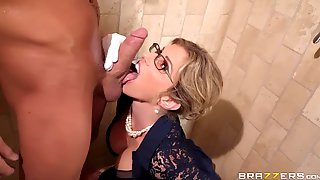 Sexy Mother In Law Gives Her Son Awesome Blowjob And Rides His Cock