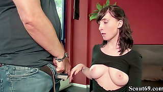 GERMAN SCOUT - TEEN LIA LOUISE 3SOME BY OLD AND YOUNG MAN