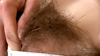 Hairy Girl Shows Her Body: Bushy Cunt And Hairy Armpits