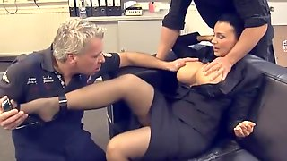 Suited MILF Office Gangbang