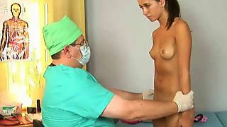 Gyno Medical Examination Of Young Brunette