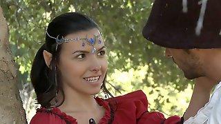 Elf Girl Seduces Handsome Traveler