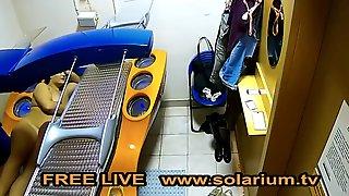 Solarium Cam 2 Girls Masturbates On Real Live Voyeur Solarium