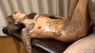 Cutie With Tattoos Gets Fucked
