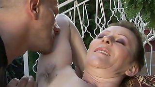 Hairy GILF Has Fun With Hung Dude
