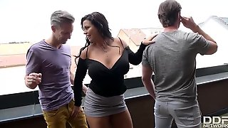 Slovakian Busty Goddess Group Sex