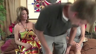 Milfs Have Fun With The Neighbor Dude