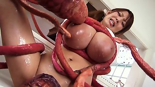 Hitomi Tanaka Smothered In Tentacles