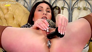 Anal Toys In Ass And Bald Pierced Pussy Slit