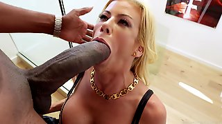 Alexis Fawx Sucks Monstrous Black Cock