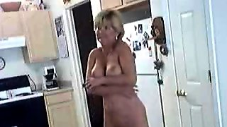 Grannys Horny In The Kitchen