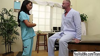 Shemale Nurse Chanel Santini Ass Fucks Her Patient With Pleasure