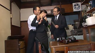 Two Co-workers Fuck And Toy Pussy Of Naughty Japanese Gal Aoi Wajo