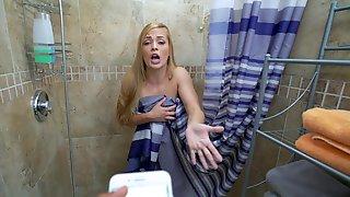 Sloan Harper Gets Caught Masturbating In The Shower