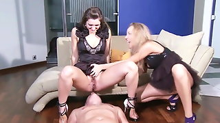 Slave Gets Pee And Licking Shoes