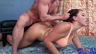 Gorgeous Busty Brunette Valentina Jewels Roughly Fucked Doggy Style