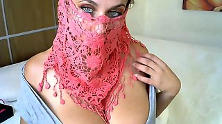 Slutty Muslim Girl With Big Bust On Webcam
