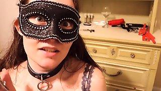 Masked Teen Chooses Sex Toys