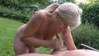 German Granny Marina  Big Saggy Tits