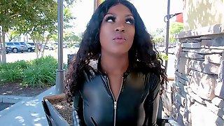 BlackValleyGirls - Evi Rei Fucked In Leather POV