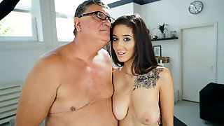Busty Darcia Lee Having Sex With An Old Man