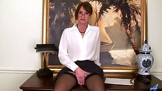 Nerdy Mature Wrinkled Slut Kimberly Undresses To Tease Her Own Moist Slit