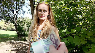 Stunning Hungarian Linda Leclair Screws A Unknown Person For Money