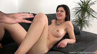 Sweet Dark Haired Lady Copulated At The Casting