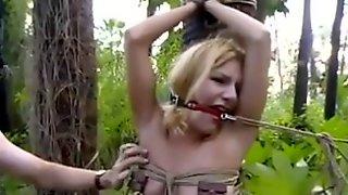 Tugging pussy eating gloryhole orgasm